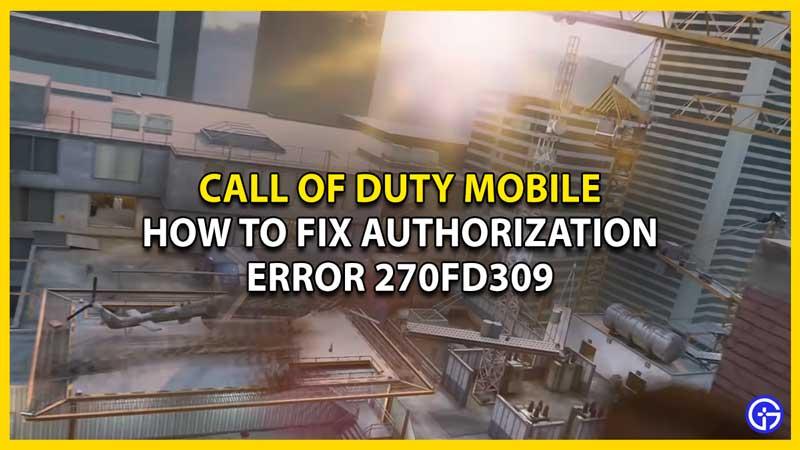 codm error 270fd309 fix