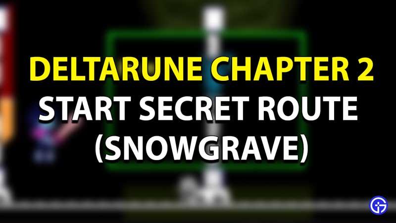 Deltarune: Noelle's Snowgrave Alternate Route