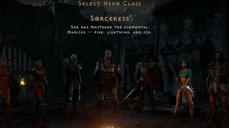 diablo 2 resurrected class starting