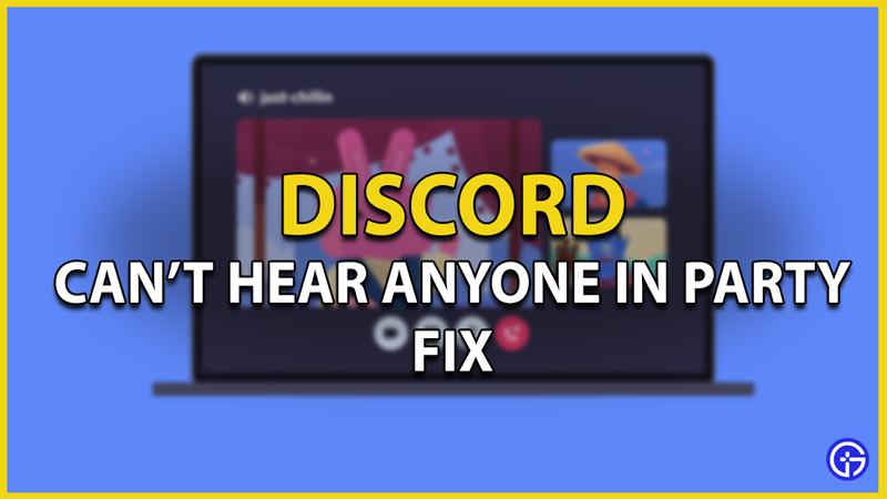 discord cant hear anyone fix