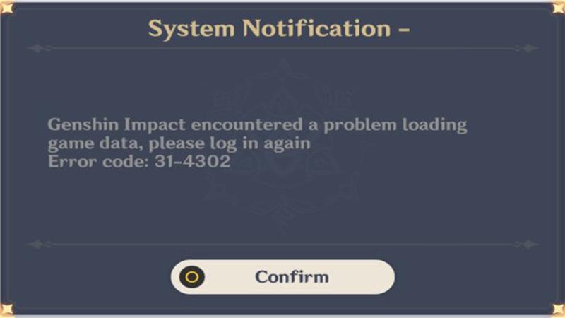 error code 31 4302