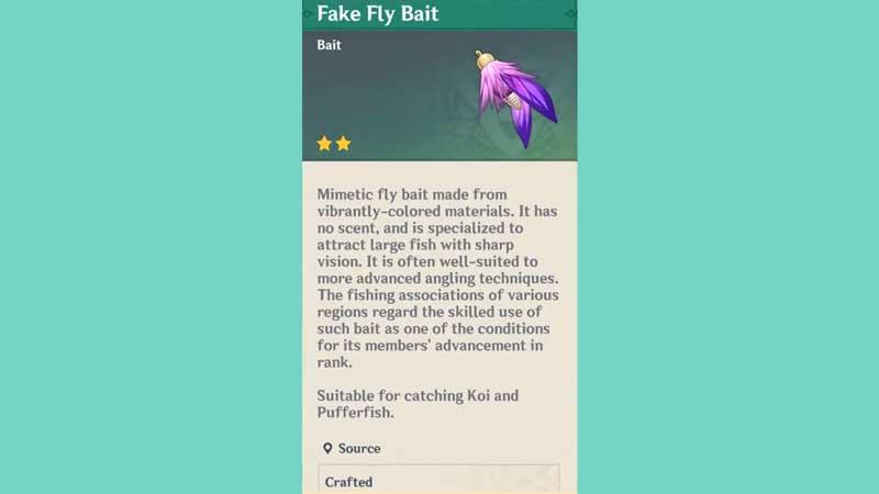 fake fly bait genshin pufferfish