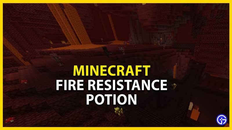 fire resistance potion minecraft