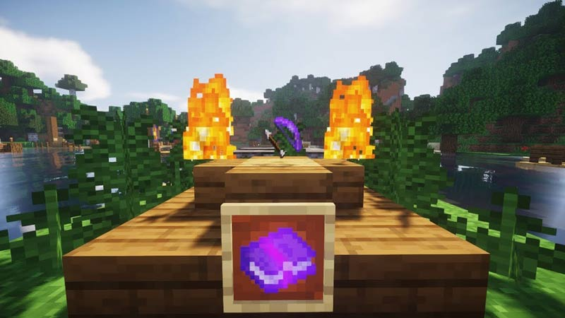 flaming arrow in minecraft