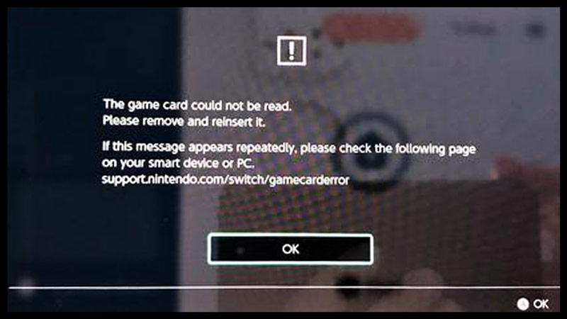 game card error