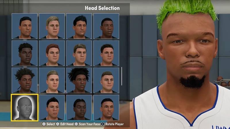 head selection