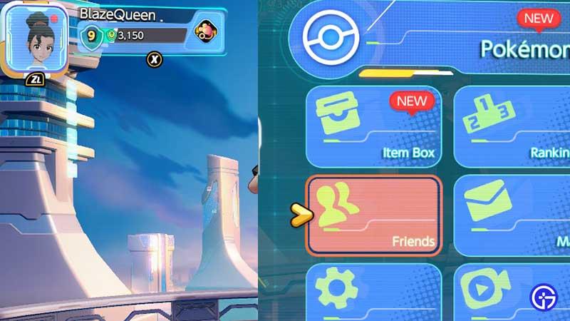 how to invite add friends pokemon unite