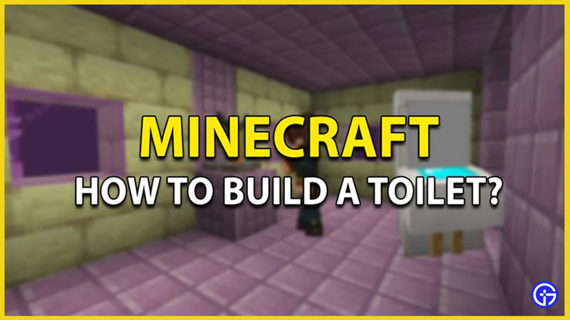 how to build a toilet minecraft