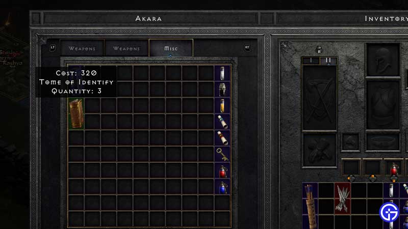 how to get tomes from akara diablo 2