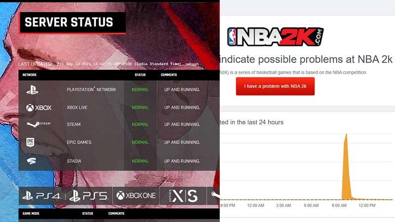 NBA 2k22 Server Status how to check if servers down