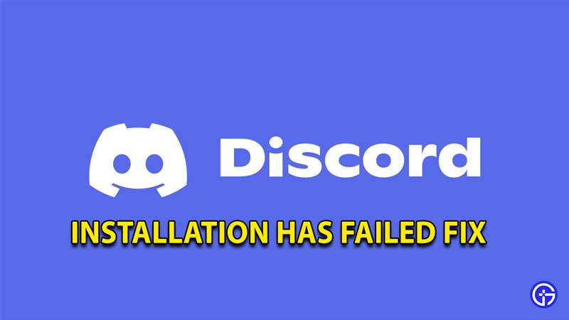 how to fix discord installation has failed