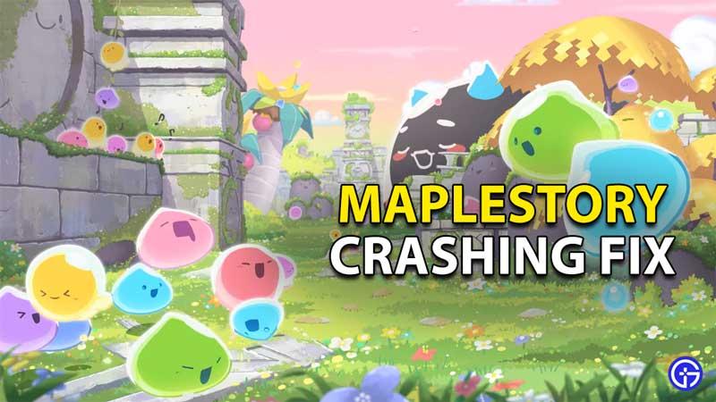 how to fix maplestory keeps crashing