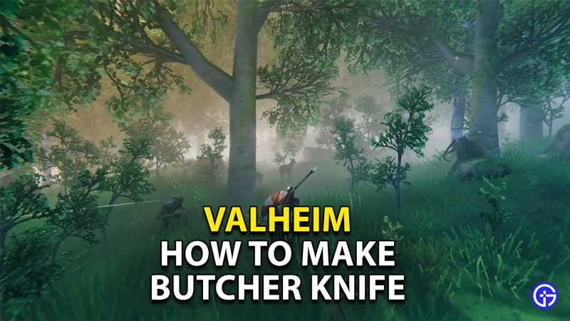 how to make butcher knife get table
