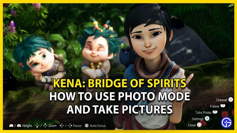 kena bridge of spirits how to use photo mode
