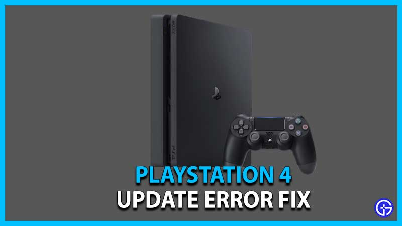 how to update ps4 system software update error