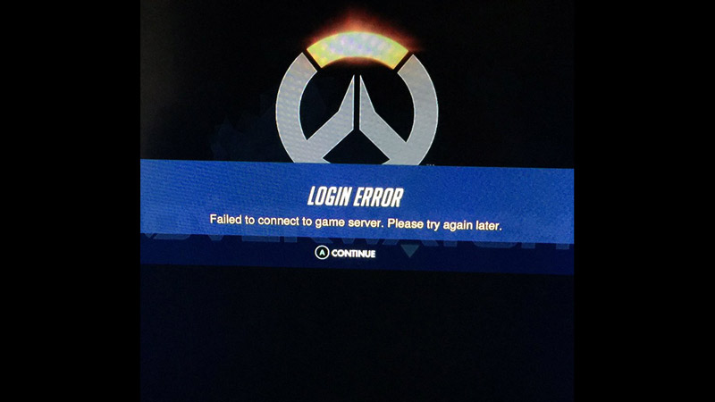 login error