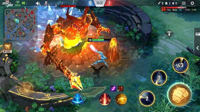 marvel-super-war best mobile moba games