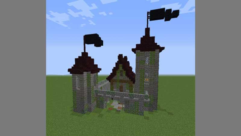 mini castle blueprint