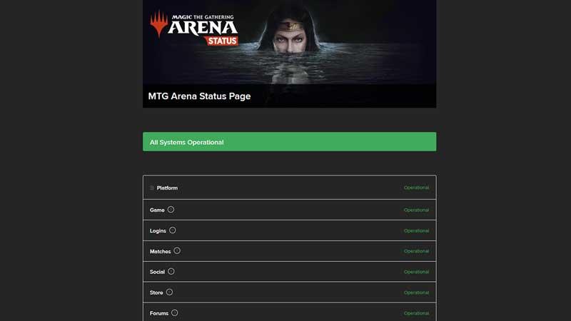 mtg arena check server status
