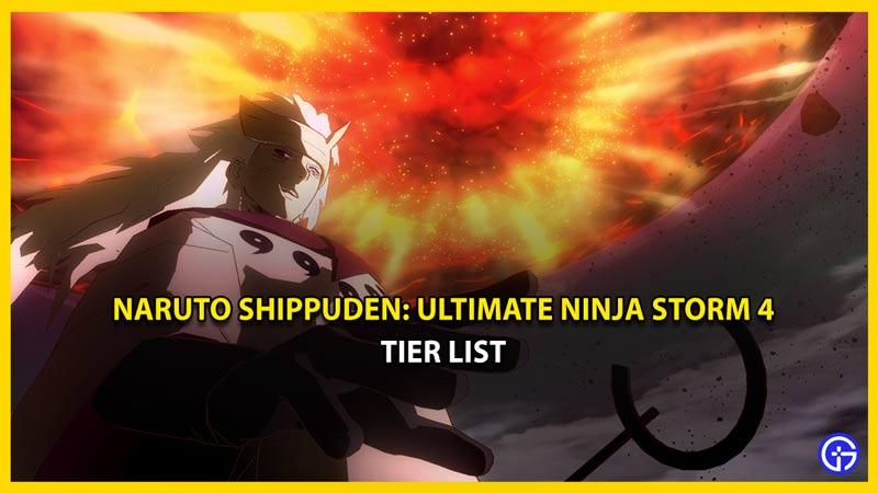 naruto shippuden ultimate ninja storm 4 tier list