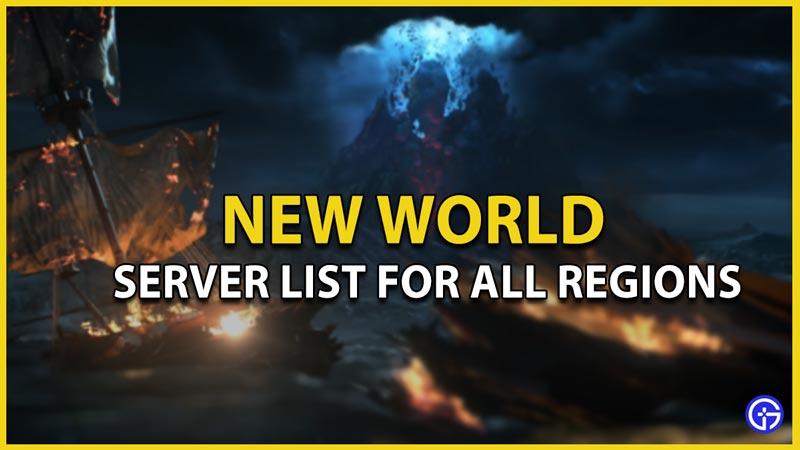new world server list