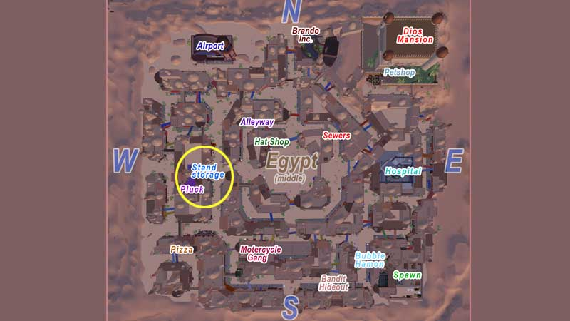 project star stand storage location cairo map