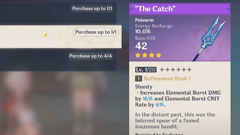 the catch weapon ascension