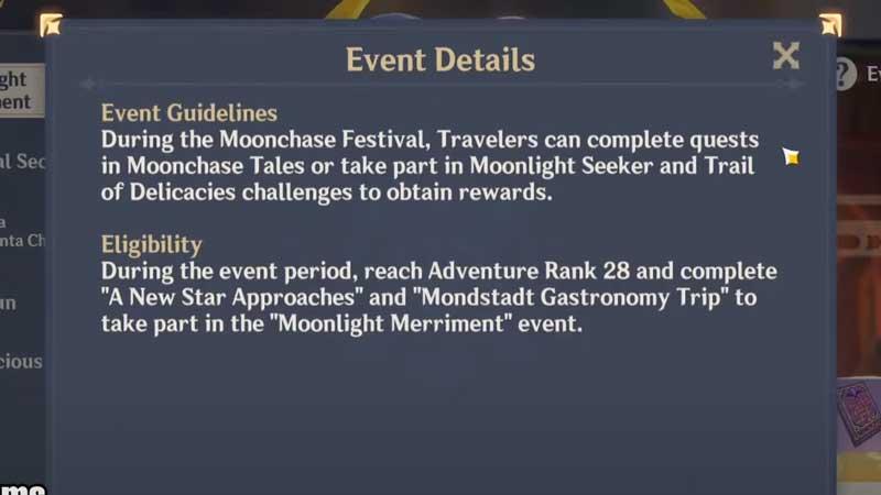 trail delicacies moonlight seeker festival fever