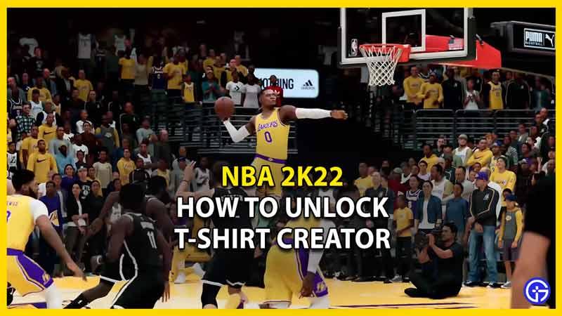 nba 2k22 unlock tshirt creator