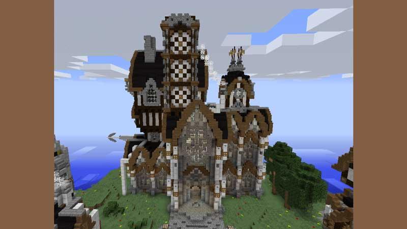 victorian castle blueprint minecraft