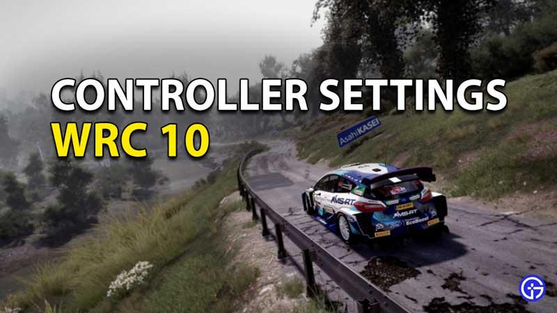 WRC 10 Controller Settings