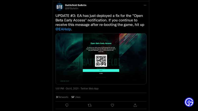 Battlefield 2042 Beta QR Code Error for Early Access Players