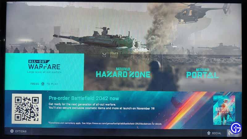 Battlefield 2042 Open Beta QR Code fix
