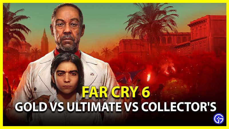 Different Far Cry 6 Editions Pre Order Bonus