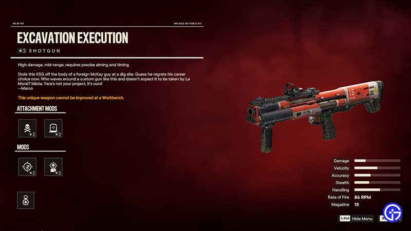 Excavation Execution - Best Far Cry 6 Close Range Gun