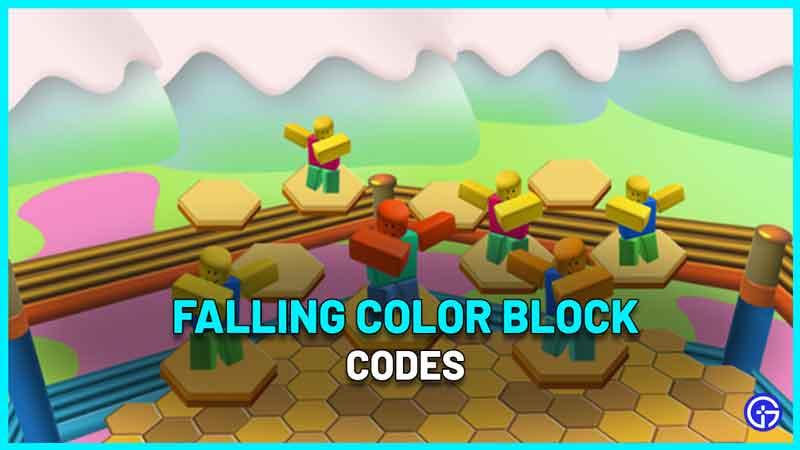 Falling Color Block Codes Roblox