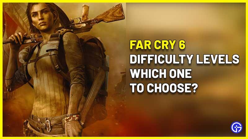 Far Cry 6 Difficulty settings