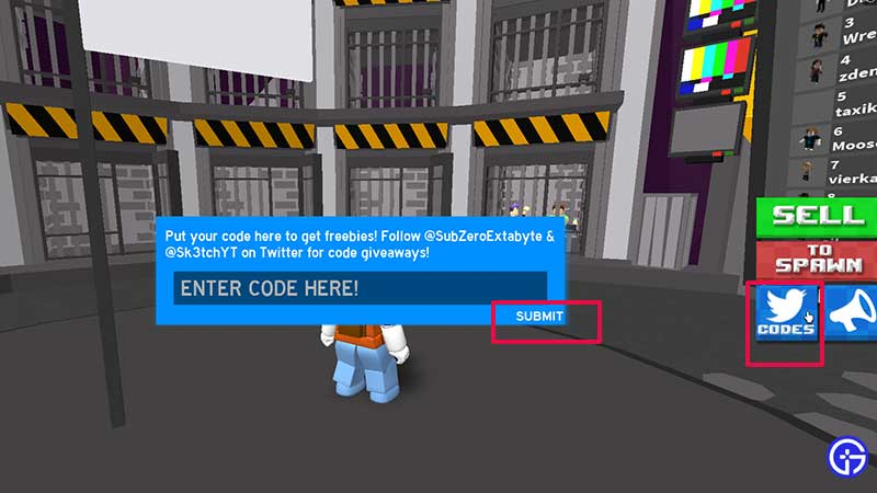 How to Enter and Redeem Codes in Prison Escape Simulator