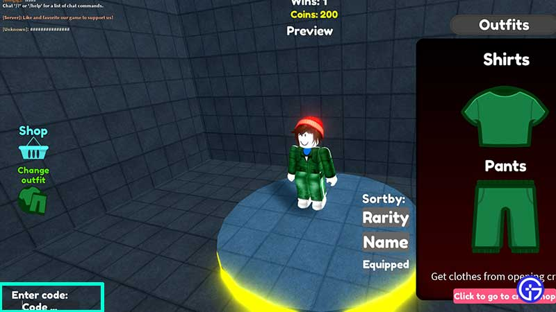 how to enter redeem roblox squid game x codes