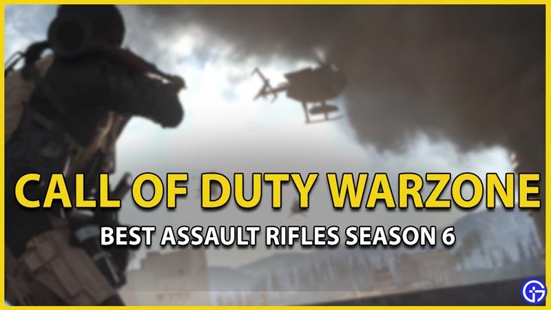 best assault rifles warzone