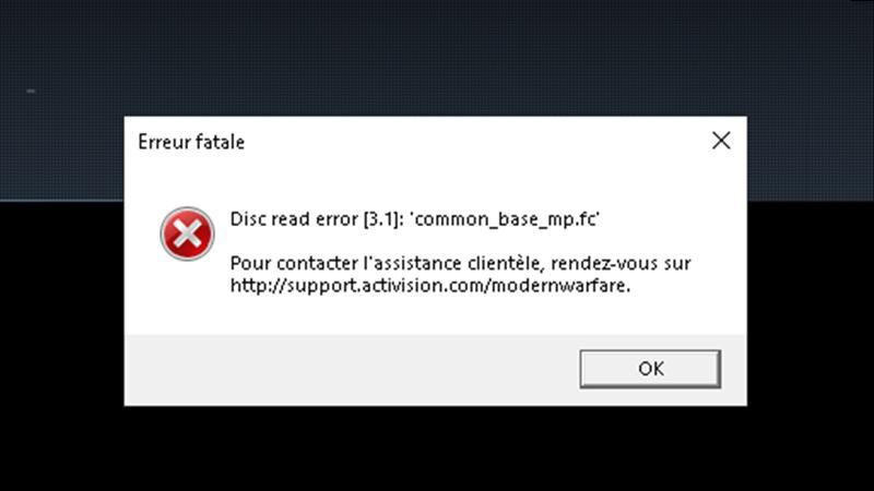 disc read error 3.1