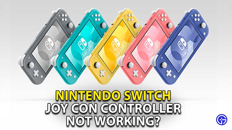 how to fix joy con controller not working nintendo switch