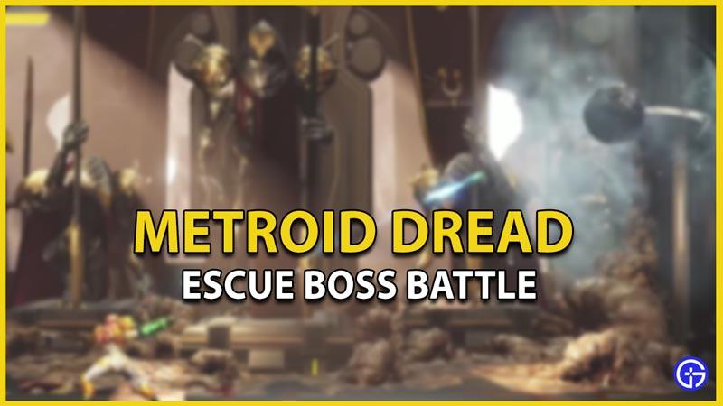 metroid dread beat boss battle