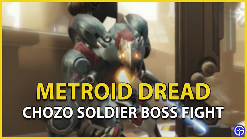 metroid dread boss fight robot chozo soldier