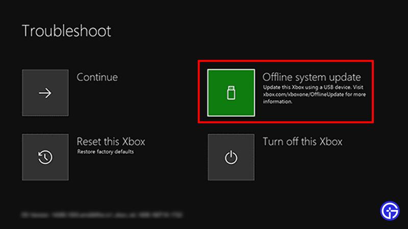 offline system update xbox one