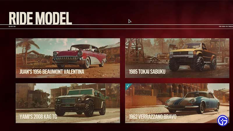 ride model spawn far cry 6 locations