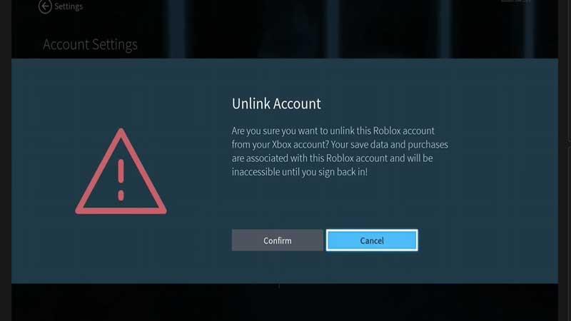 roblox unlink account xbox