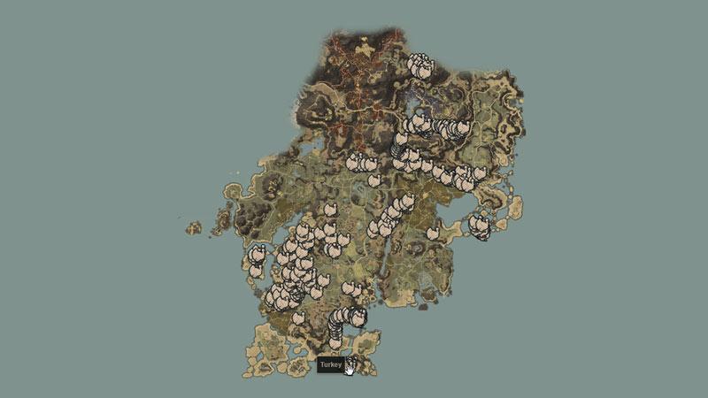 turkey map new world