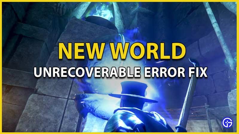 unrecoverable error fix